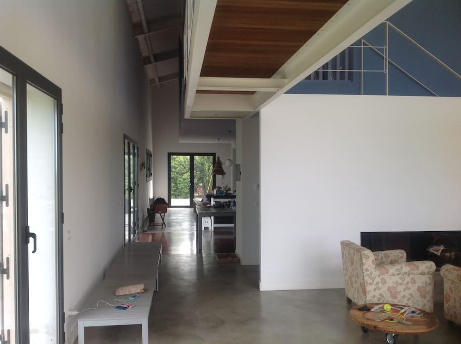 living room entrance  and kitchen