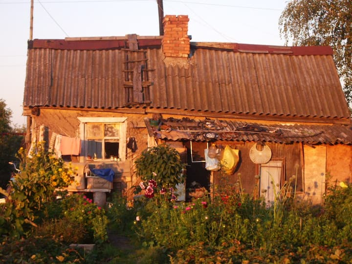 Little House in the picturesque village of Russian