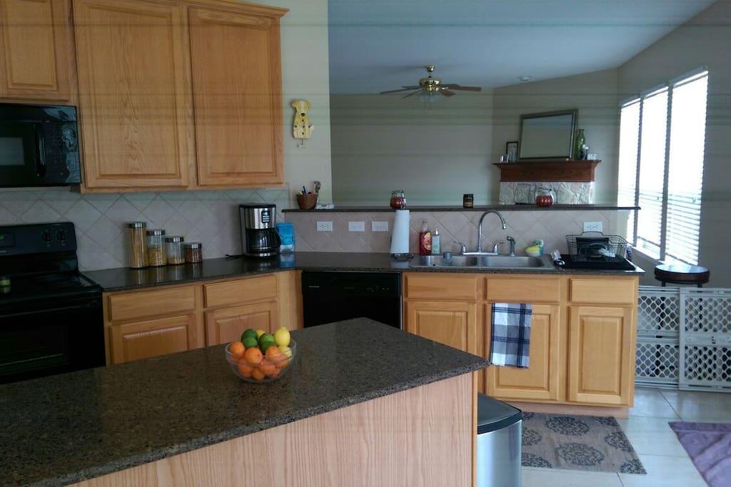 Open roomy kitchen