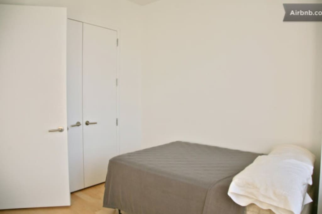 double bed and plenty of wardrobe space