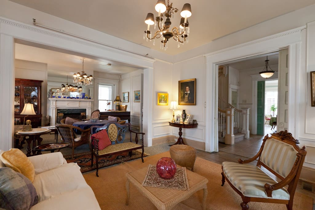 Our Victorian BnB can be your urban retreat!  Relax and regroup in our double parlor!