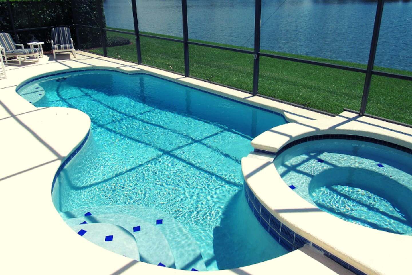 Your private pool/spa with lake view