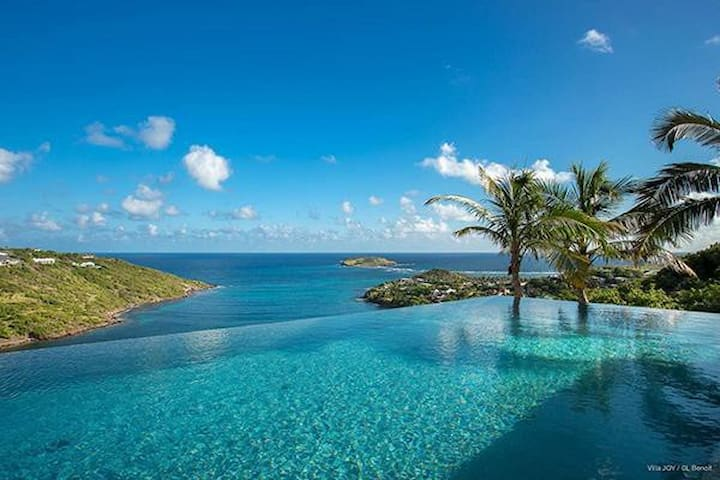 Villa WV JOY - Modern design and minimalist décor, beautiful view of the bay, minutes from the beach and shopping - Saint-Barthélemy - Villa