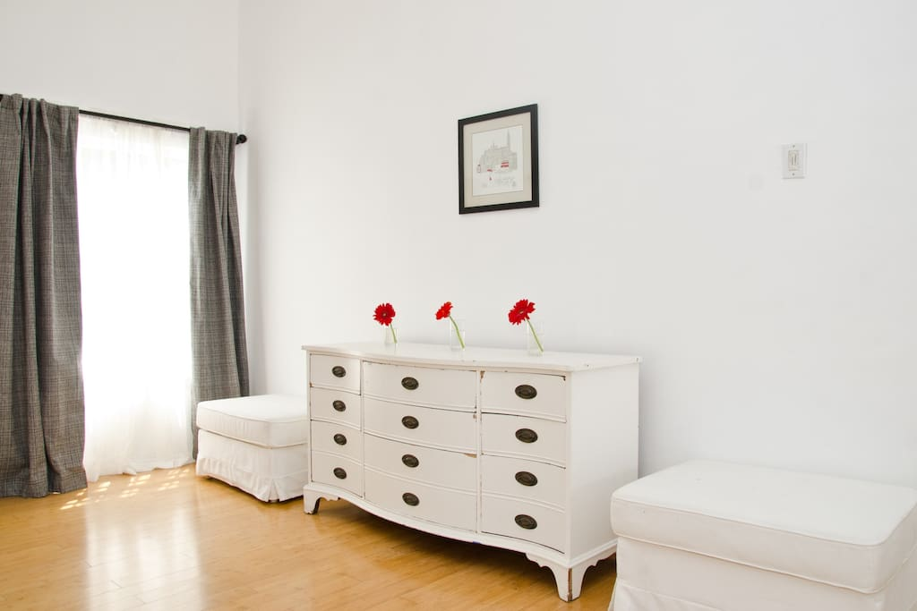Credenza in front room