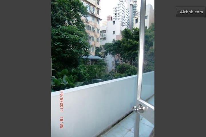 view onto balcony