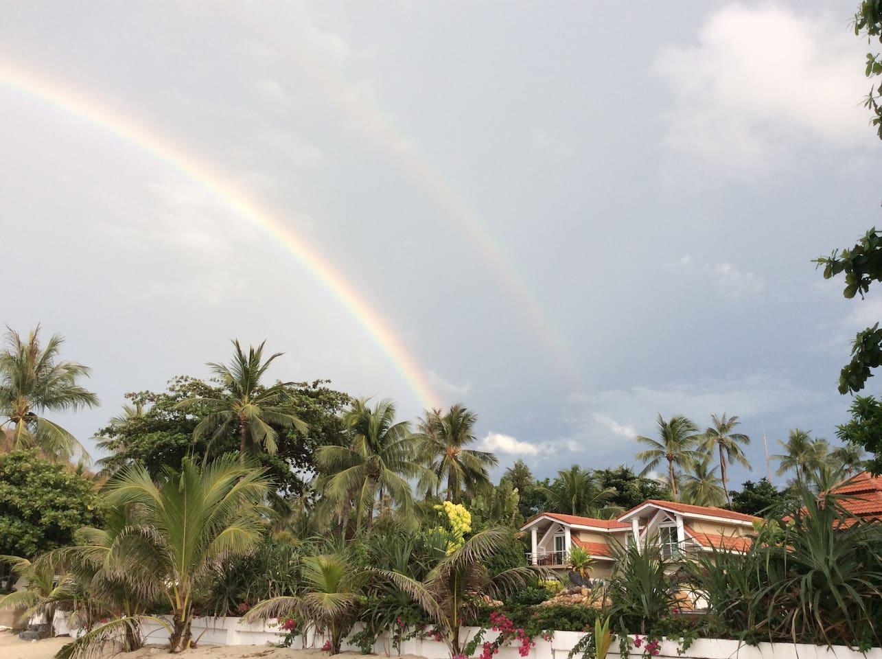 Rainbow over the Villa