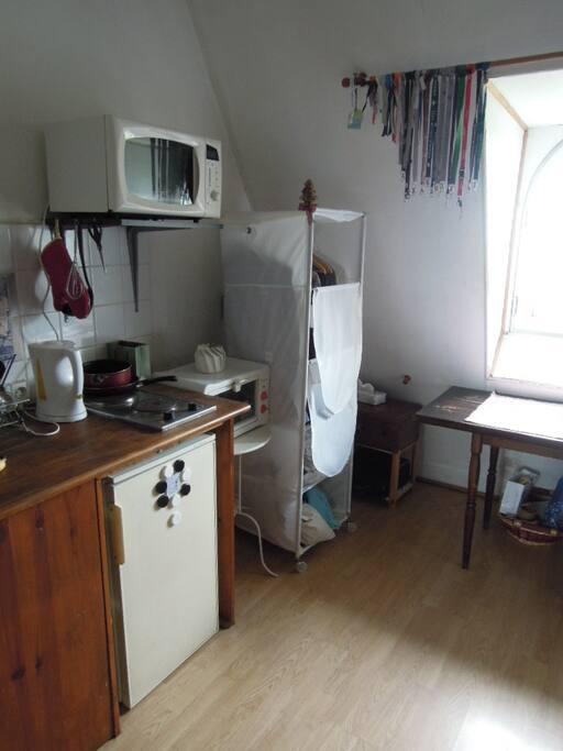 Frigo, microwave and electric ovens.