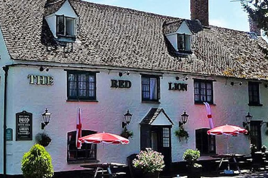 We are a stones throw away from our village pub. They do great food and you will receive a warm welcome from the locals.