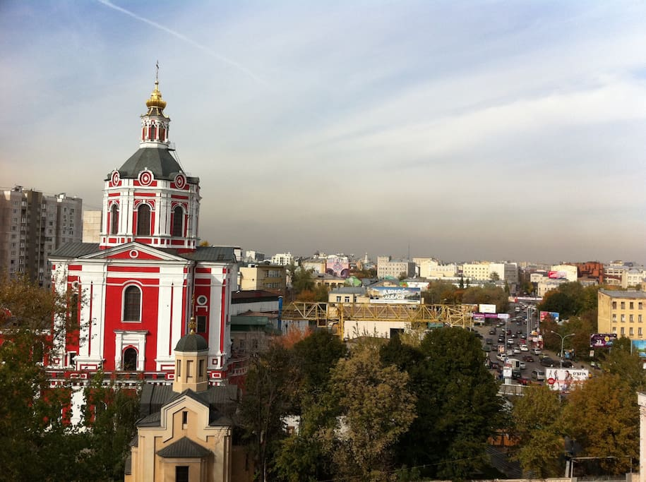 View to the center of Moscow.