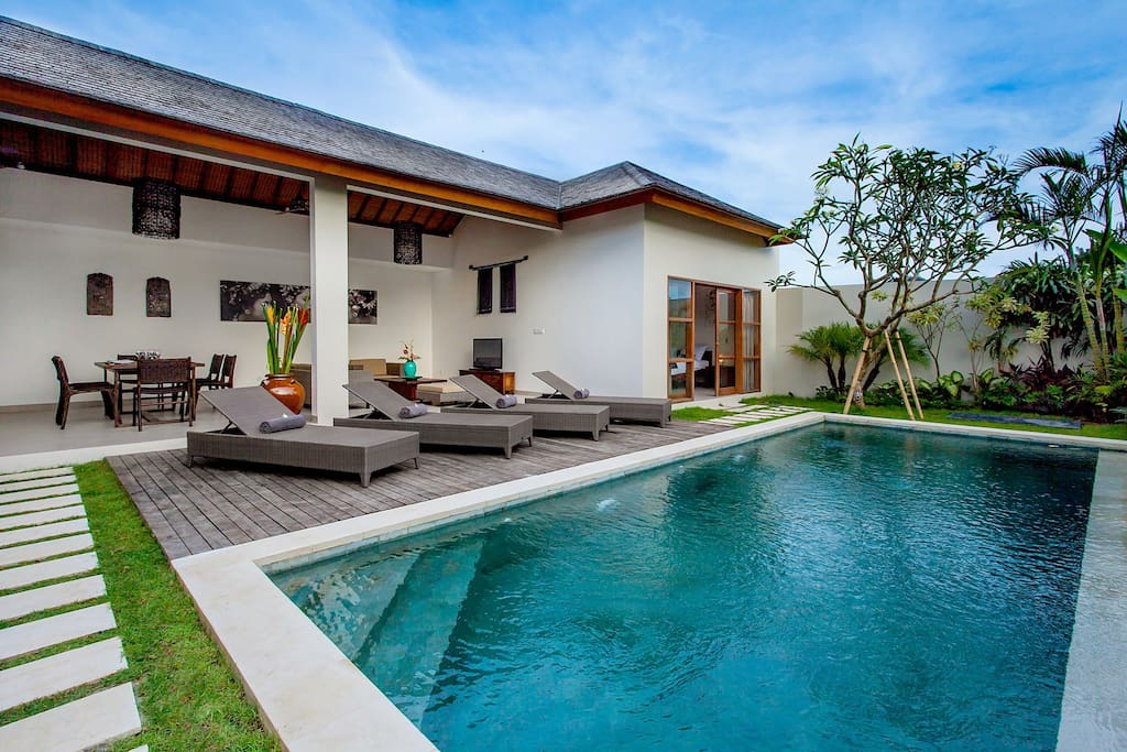 Modern style with space and balinese touch