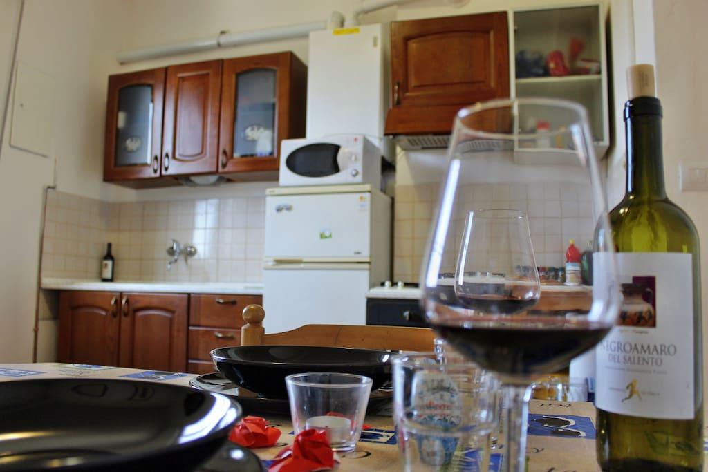 Living Room, Kitchen - Soggiorno, Cucina