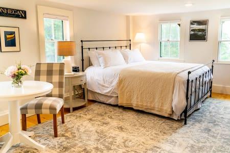 Monhegan Suite's first king bedroom