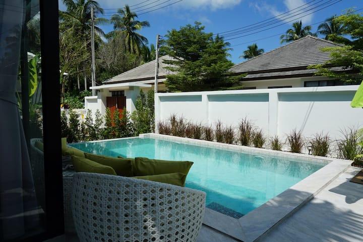 Big private pool 3 bedroom house in Maenam