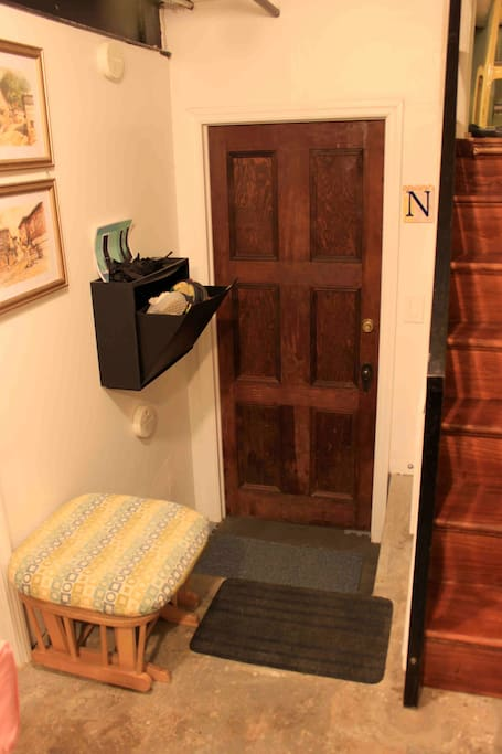 Entrance to your suite is down one short flight of steps.