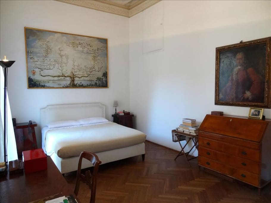 The extra large bedroom with fine furnishings