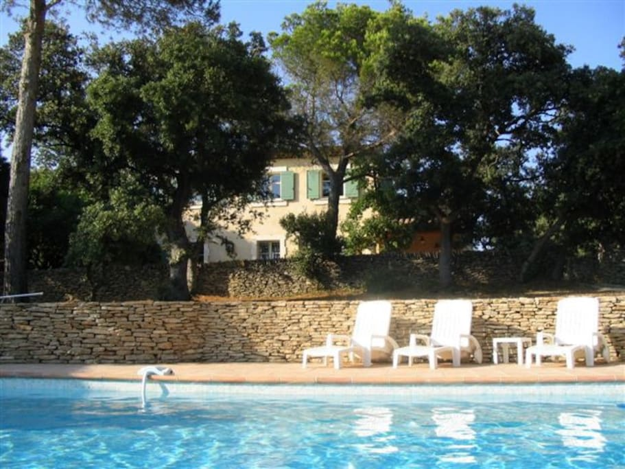 Pool and Main house