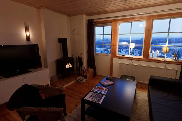 Mysig lägenhet med fantastisk utsikt