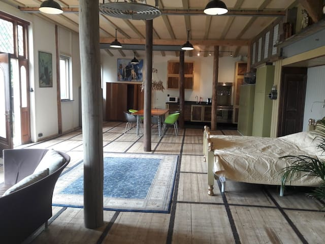 SPACIOUS,STYLISH, COMFY LOFT!10 min from Amsterdam