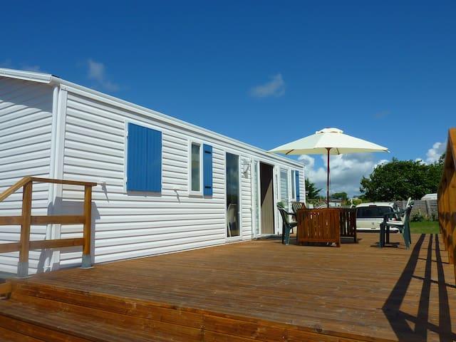 Mobile-home  5mn  plage Morbihan,site protégé.