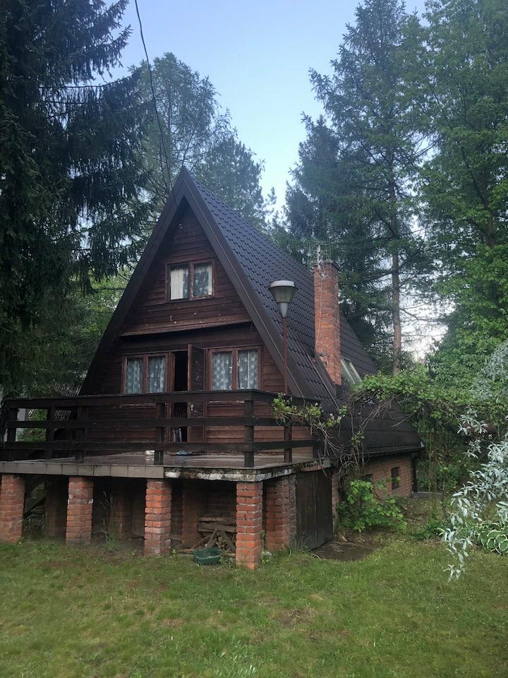 Przytulny domek 40m od Jeziora Łukcze