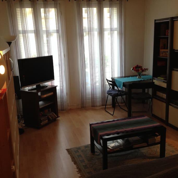 S jour chambre paris 15 me appartements louer for Appartement atypique 15eme