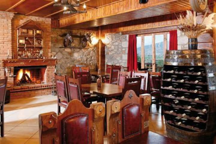 Triple Room with handmade wooden furniture