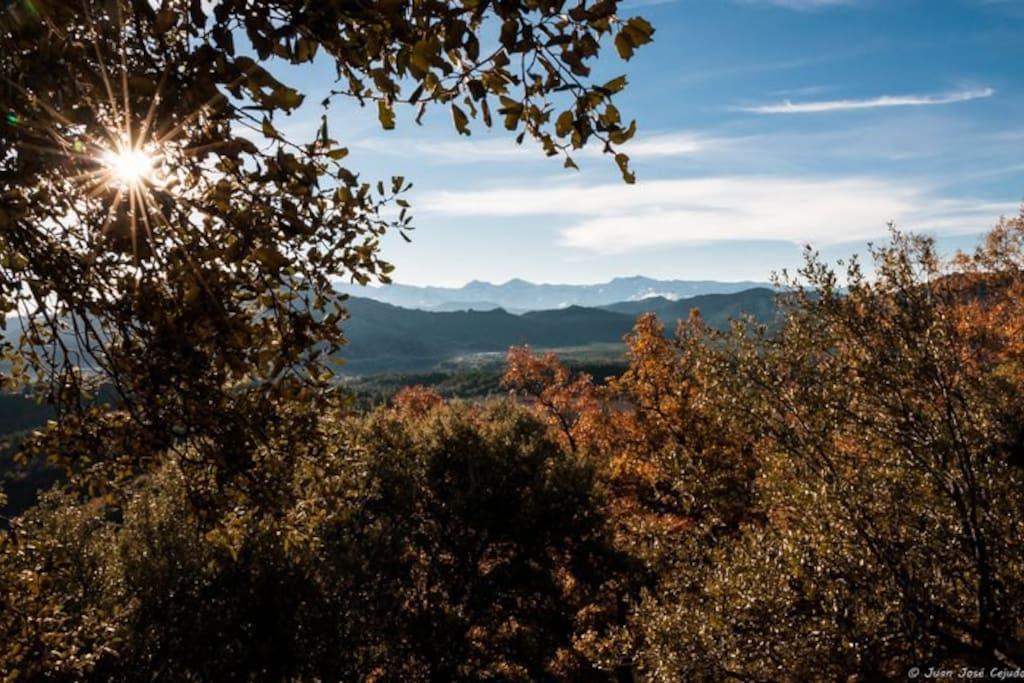 Desde Sierra Arana, panorámica de Sierra Nevada.