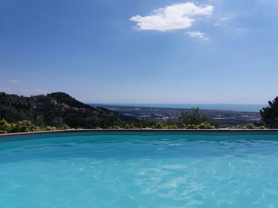 sea view from saltded water POOL - TO SHARE with guests of WEST and SOUTHEAST