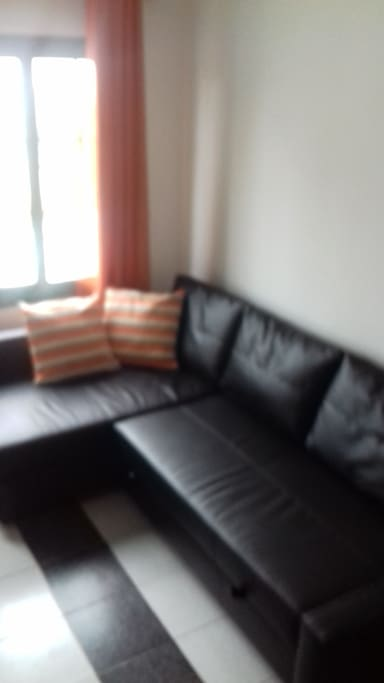Sofa that changes to large double sofa bed