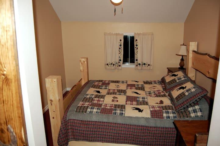 Bedroom #1 in the main cottage (Queen bed)