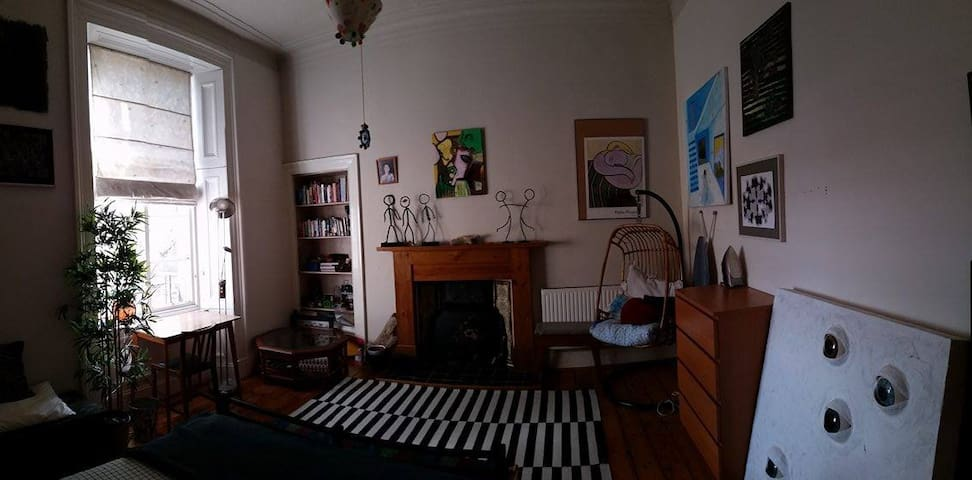 Fabulous, spacious double room with a view.