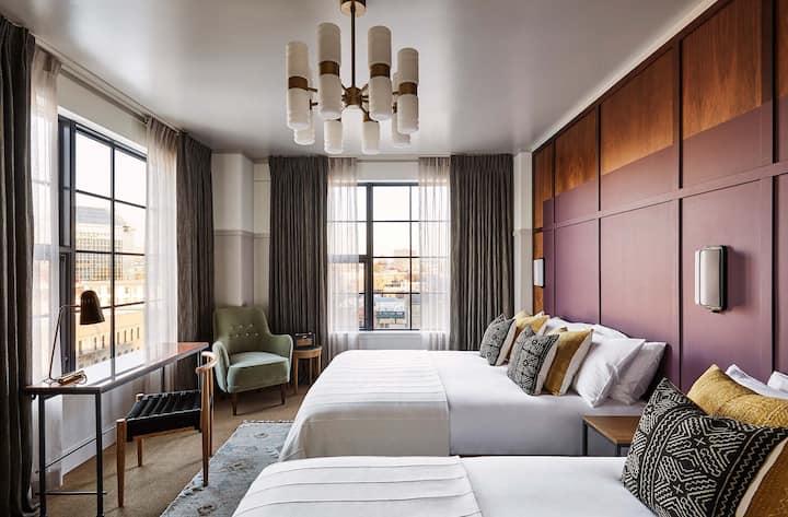 The Hoxton Portland, Roomy 2 Queen Beds