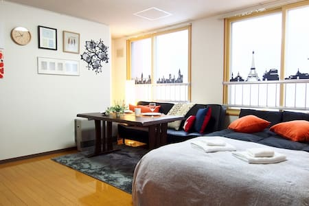 5min Sapporo JR Sta Kids /PockeWiFi Free #25 - Sapporo-shi - Appartement