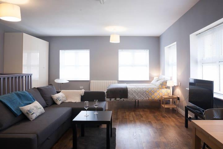 Bright airy studio apartment
