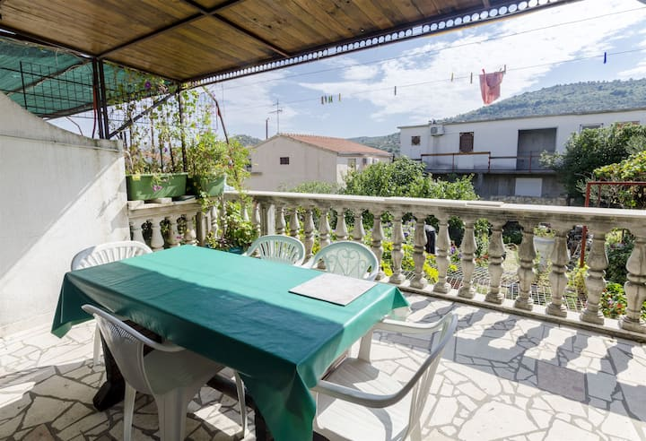Two Bedroom Apartment, seaside in Rogoznica, Terrace