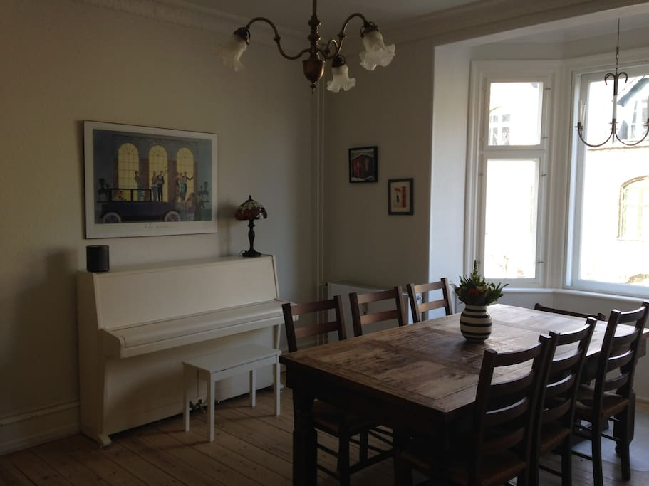 Our dining room also has a piano - you're welcome to play it :)