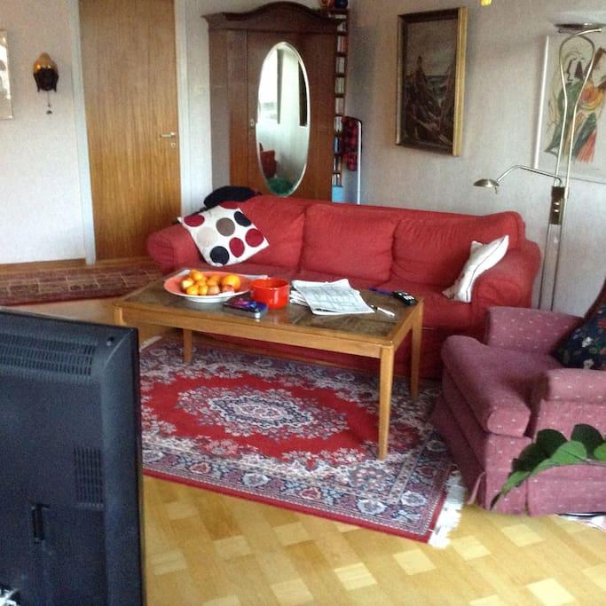 Tillgång till TV-/vardagsrum