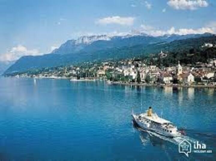 T2 en rdj 5 min Evian-Les-Bains