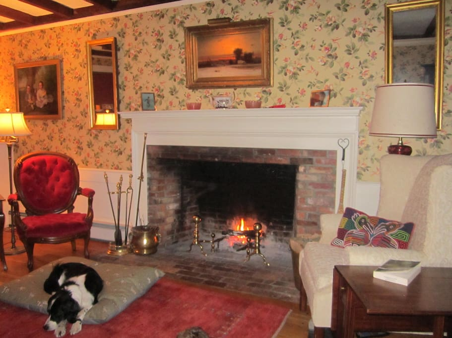 Come in & warm up by the fire!