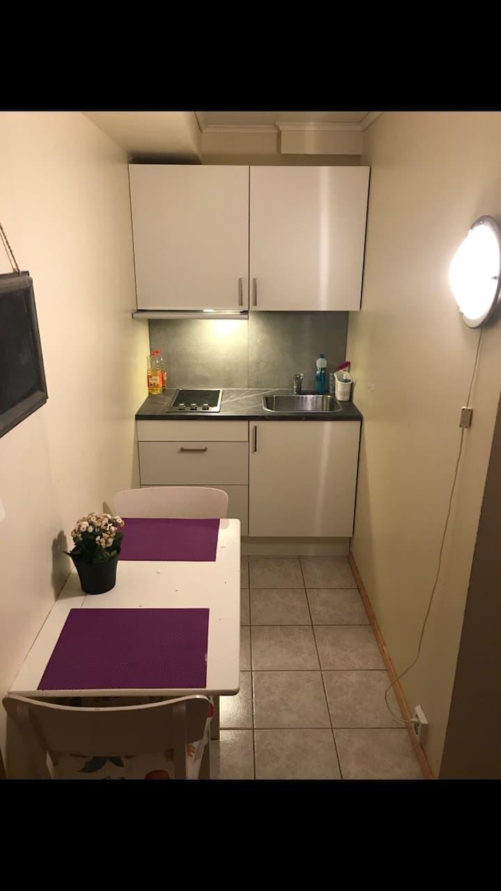 Overnattingssted i Bodø. 2 soverom, bad og kjøkken