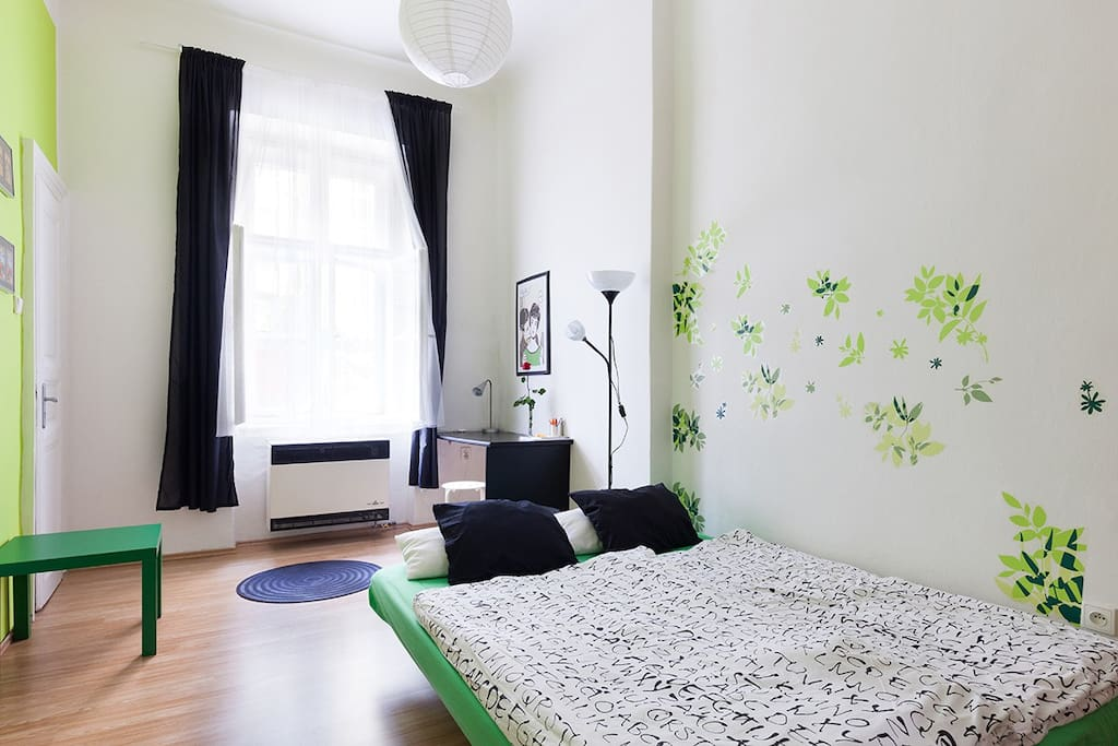 SECOND ROOM with SOFABED - it is comfortable for two guests. There is also table and entrance to the bathroom.