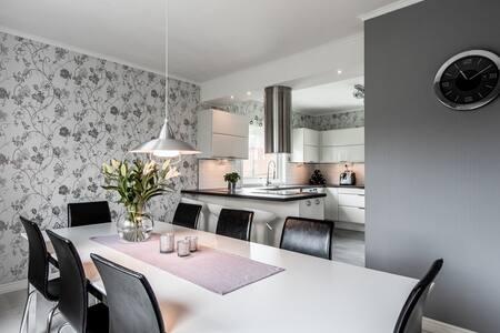 Big modern house in Sundsvall City