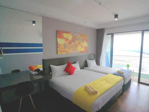 Lv39 Sunrise Seaview Condo Balcony ,距離Gurney 1公裏, 3