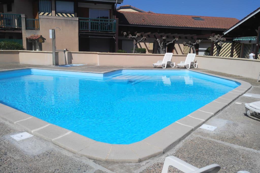 T4 clim av piscine 200m des plages condos zur miete in for Piscine capbreton