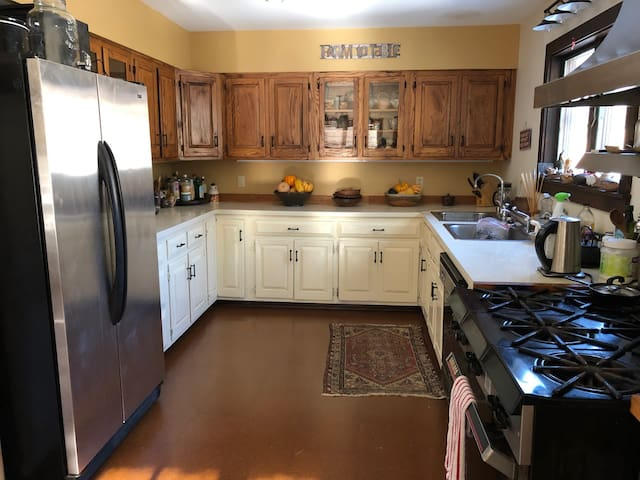 Large Country Kitchen with professional stove/oven