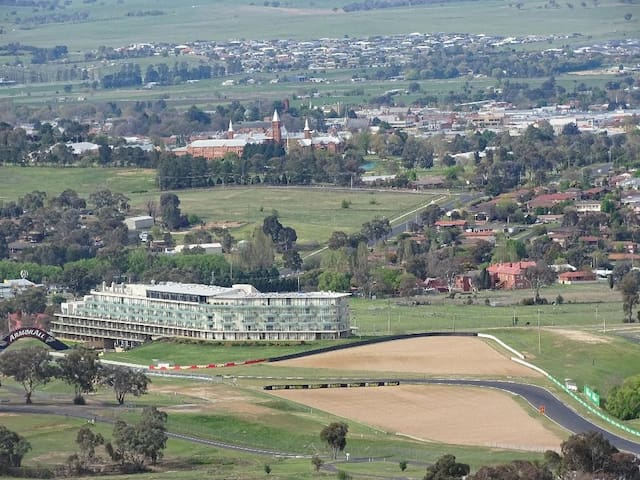 Take in the view from the top of Mount Panorama