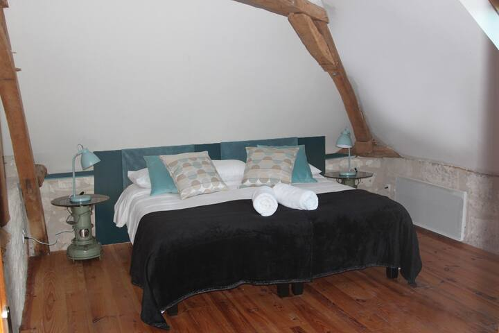 aquarelle - la chambre vintage - Sainte-Maure-de-Touraine - Bed & Breakfast