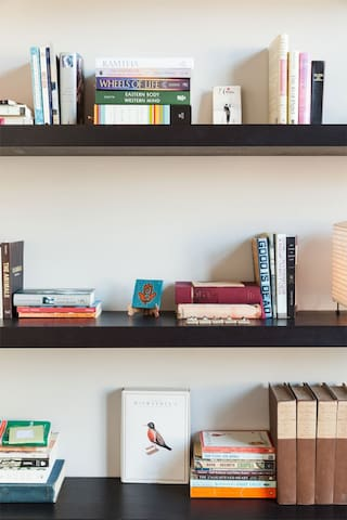 Formerly the library, your room offers books a-plenty.