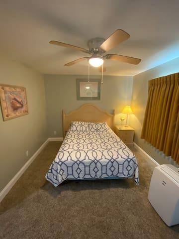 Queen size bedroom upstairs