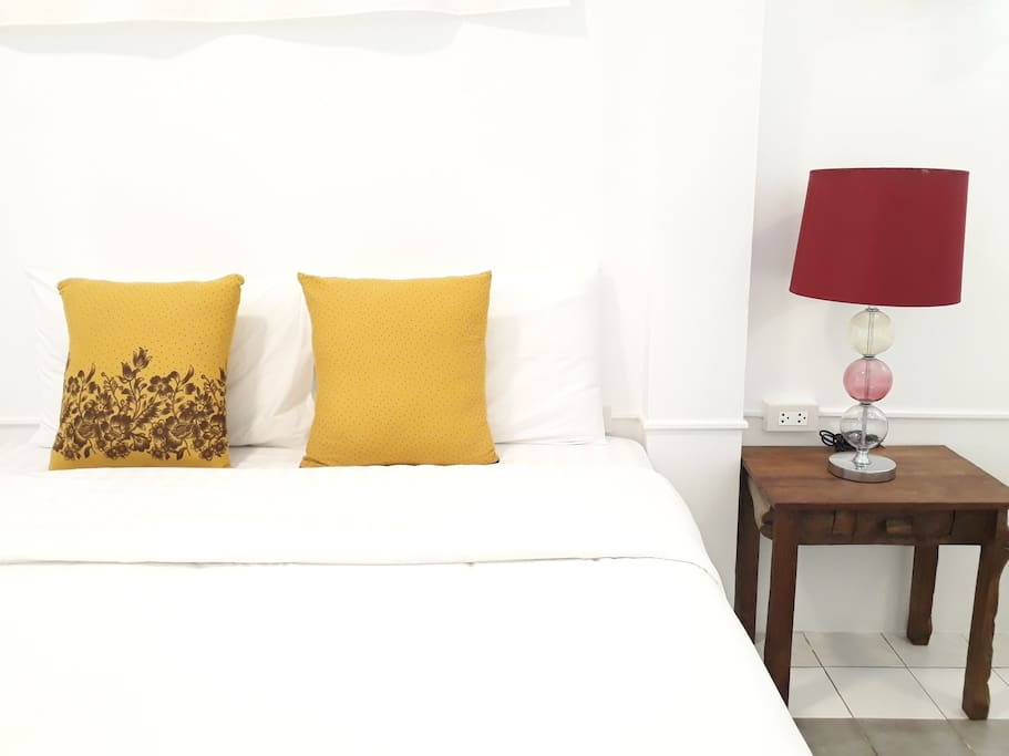 Big bedrooms with 2 double beds for 4 ppld